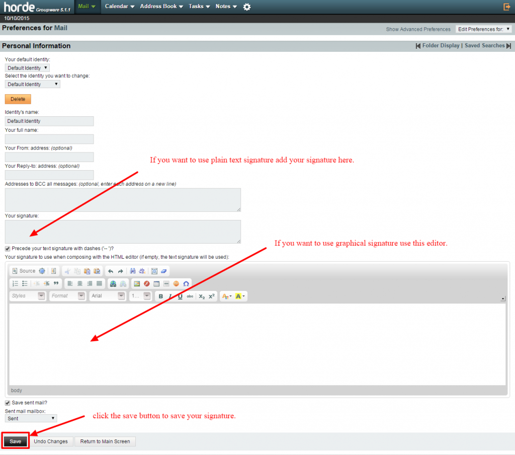 adding signatures in webmail-3