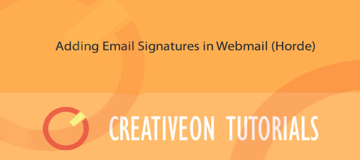 Adding Email Signatures In Webmail (Horde)