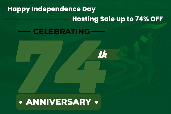 14-August 2021 Happy Independence Day Hosting Sale up to 74% OFF