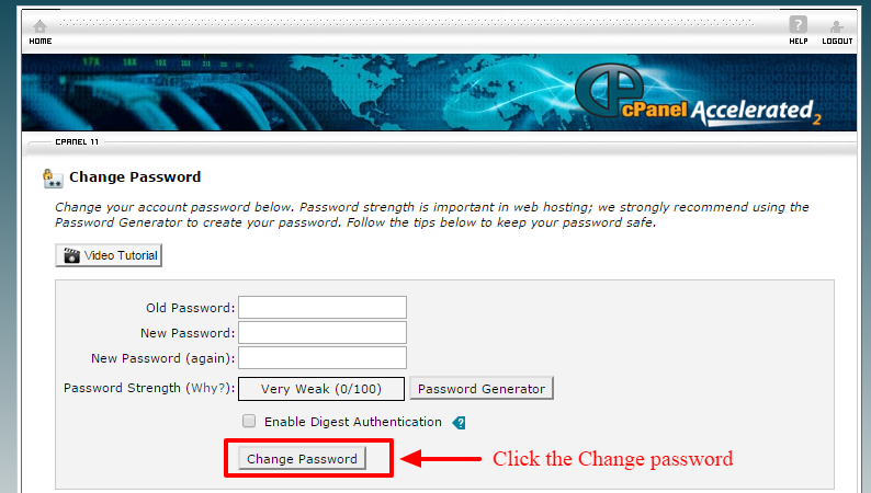 change the cpanel password-4