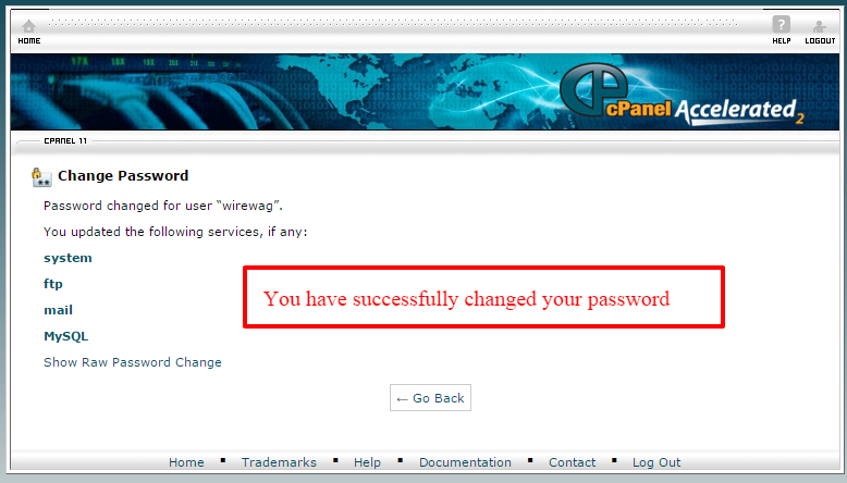 change the cpanel password-5