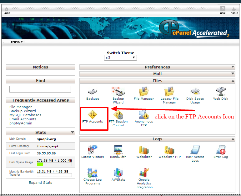 creating ftp account 2