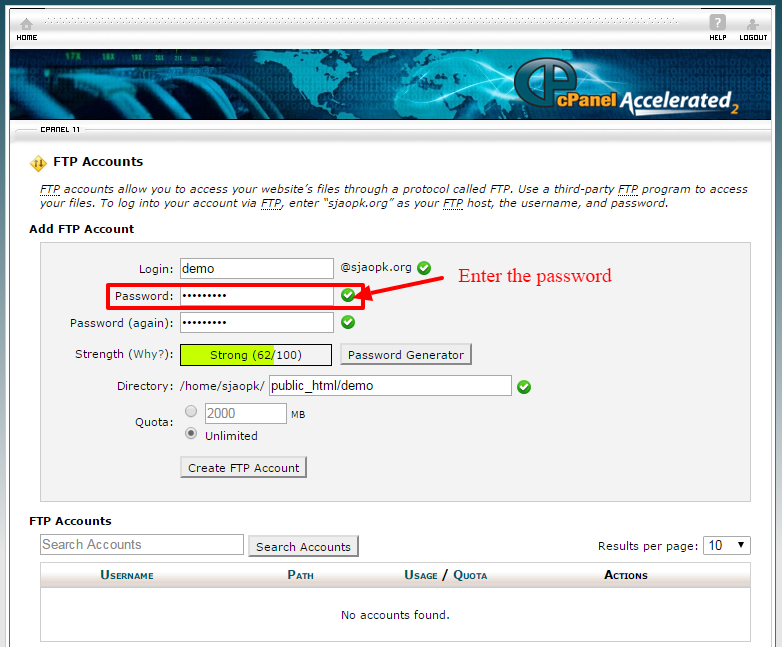 creating ftp account 4