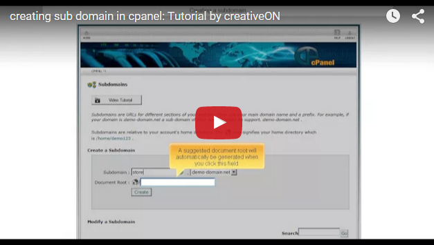 Creating Sub Domain In Cpanel
