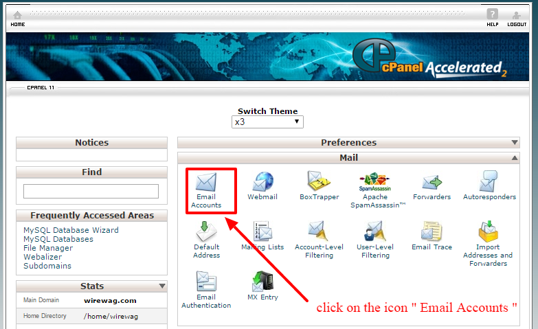 how to create email account in cpanel-1