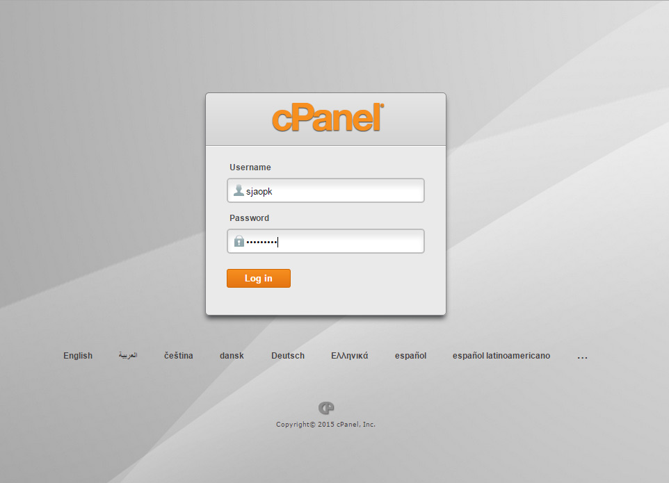 Logging Into Hosting Cpanel