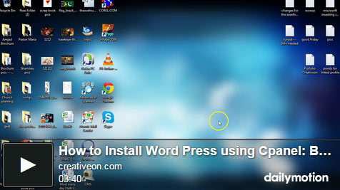 Installing WordPress Using Cpanel