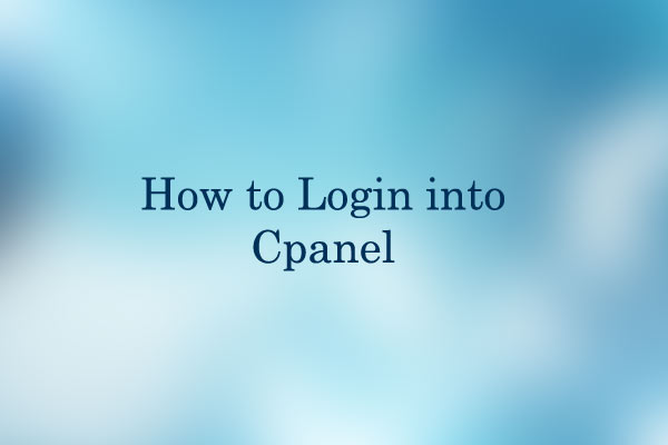 How to Login into cPanel