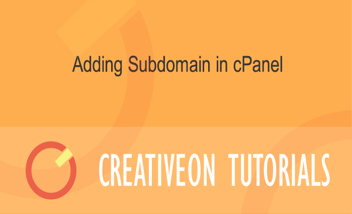 Adding Subdomain In CPanel